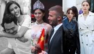 """Ảnh hot sao Việt: Hoa hậu Tiểu Vy bắt tay David Beckham, Kỳ Duyên """"đọ sắc"""" cùng Dara tại Paris"""