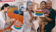"""Phạm Quỳnh Anh và ông bầu Quang Huy bất ngờ """"tái ngộ"""", mừng sinh nhật con gái tròn 6 tuổi"""