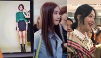 Mặc dù chụp vội bằng điện thoại nhan sắc của nữ thần tượng xứ Hàn cũng lung linh không kém