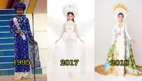 Nhìn lại những bộ quốc phục của các đại diện Việt Nam tại đấu trường nhan sắc Miss International