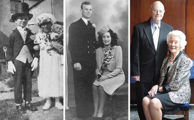 """Ngày còn bé cùng nhau chơi trò """"cô dâu-chú rể"""". Sau này lớn lên đã thật sự nên duyên chồng vợ."""
