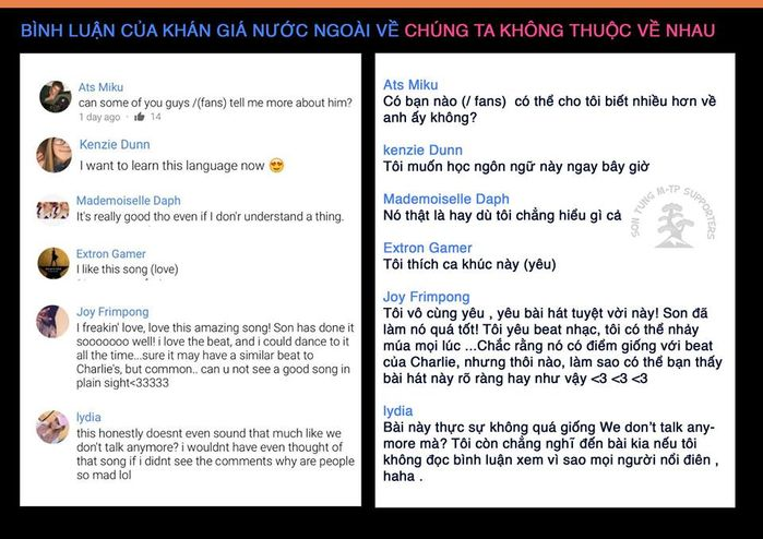 bestie phan ung khan gia nuoc ngoai khi nghe nghe si viet hat