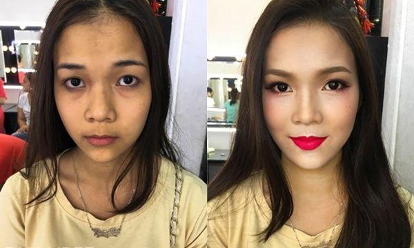 Bestie khong khoi bat ngo truoc phep mau cua makeup
