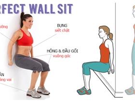 Tựa lưng vào tường: Bài tập thần thánh còn tốt hơn cả squat và plank