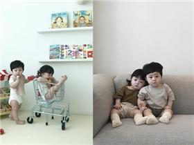 """Ngắm cặp sinh đôi người Hàn đáng yêu tựa thiên thần khiến dân mạng """"phát sốt"""""""