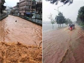 Đà Lạt bất ngờ chịu trận mưa lớn, ngập úng trên diện rộng
