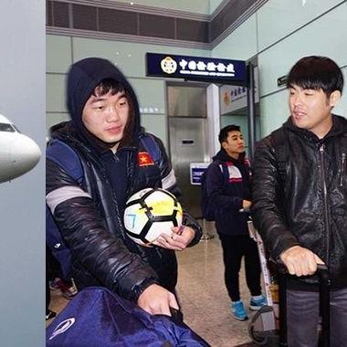 Phi cơ riêng đón U23 Việt Nam đã chính thức hạ cánh đoàn tuyển thủ đã xuống sân bay