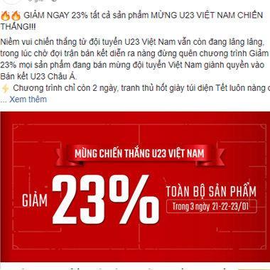"""Nhờ đội Tuyển U23 Việt Nam mà fan được """"ăn ké"""" khuyến mãi nhiều thế này"""