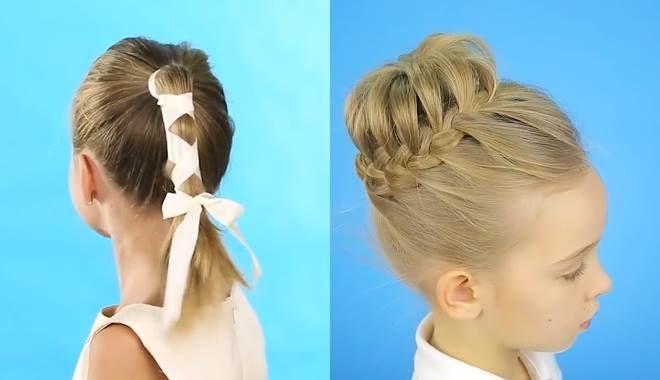 5 kiểu tết tóc chỉ tốn 1 phút siêu dễ thương dành cho các công chúa nhỏ