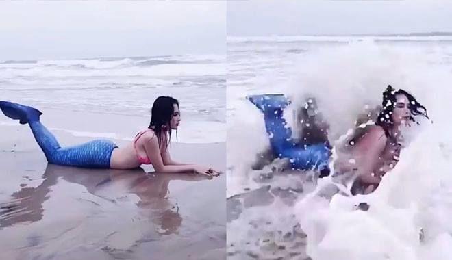 """Chán khoe vòng 3, Angela Phương Trinh lại gây sốt khi hóa thân """"nàng tiên cá mắc cạn"""""""
