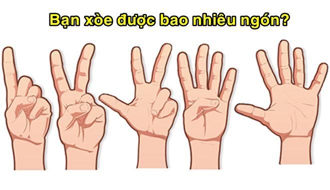 Số ngón xòe ra khi mở bàn tay tiết lộ chính xác nghề nghiệp trong tương lai