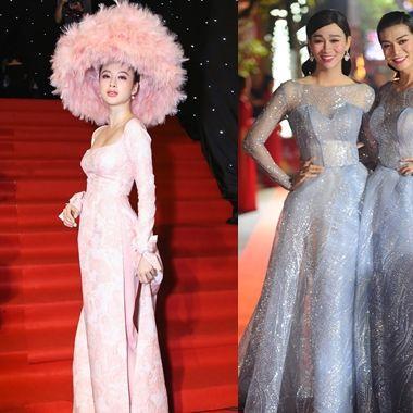 """1001 kiểu """"làm màu"""" của sao Việt trên thảm đỏ: Ai sẽ đủ tầm để đánh bật Angela Phương Trinh? thumbnail"""