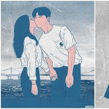 Ấn tượng với bộ tranh tuyệt đẹp về tình yêu của họa sỹ Hàn Quốc