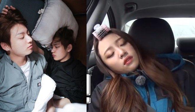 Khi idol Kpop buồn ngủ: Hình tượng cũng chẳng còn quan trọng nữa