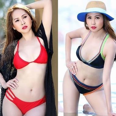 """""""Gái nhảy"""" Minh Thư diện bikini khoe đường cong đốt mắt người nhìn ở tuổi 42"""