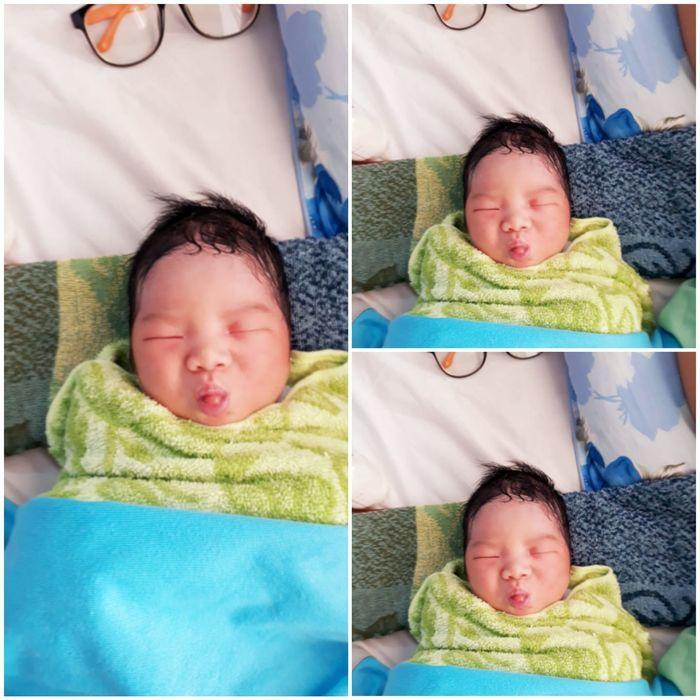Biểu cảm siêu dễ thương của trẻ sơ sinh khi chào đời