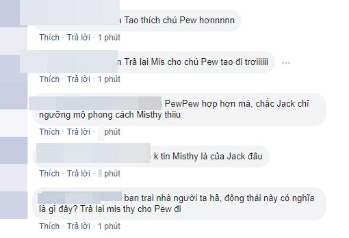 Fan gọi tên Pew Pew khi thấy Jack ấn nút theo dõi Misthy