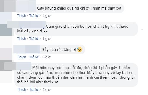 """Trịnh Sảng lại xuất hiện với đôi chân """"tong teo"""" khiến fan lo lắng"""
