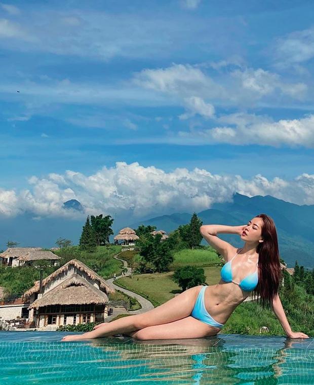 Chi Pu diện bikini khoe body: vòng 1 căng đầy nhưng eo nhỏ còn sốc hơn