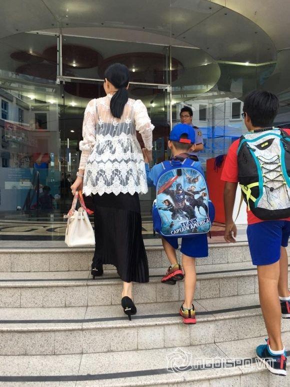 Thời trang đưa con đến trường của sao Việt