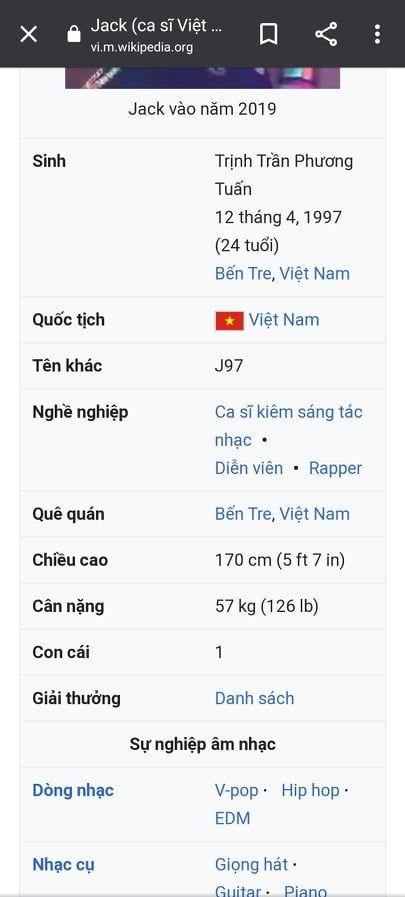 Sao Việt bị sửa đổi thông tin: Jack có con cũng chưa bằng Hari Won