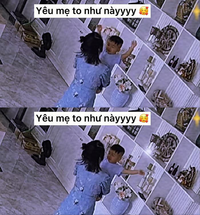 Bo thúi nói yêu mẹ Hoà Minzy, còn dùng 2 tay diễn tả to ơi là to