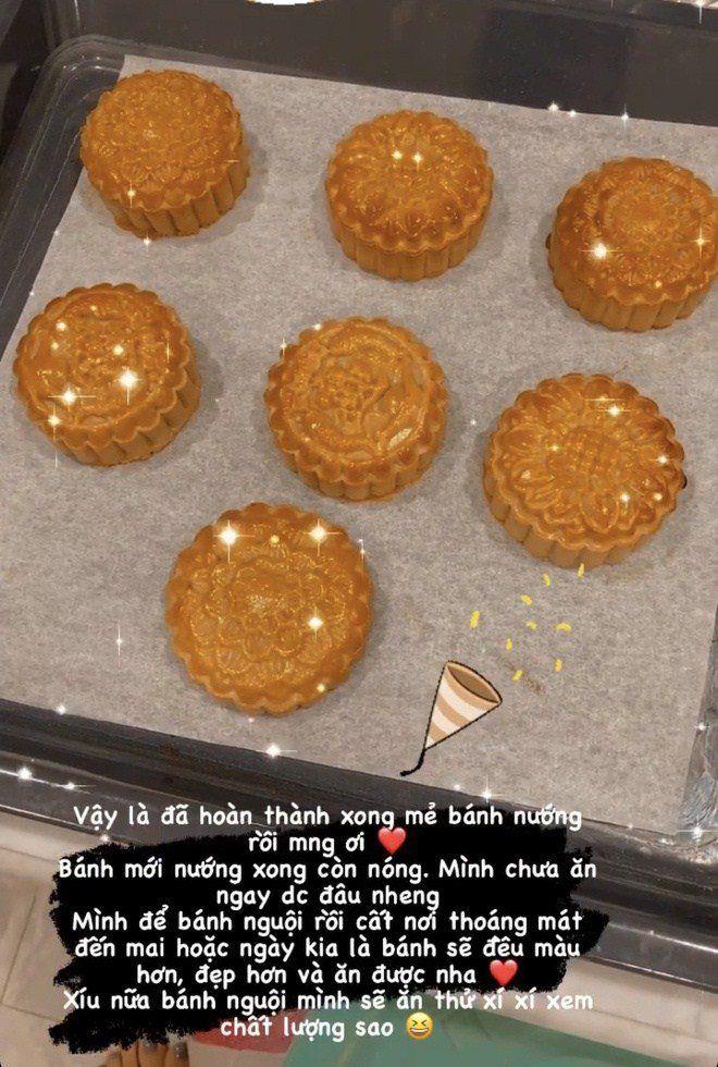Sao Việt trổ tài làm bánh trung thu: Văn Mai Hương mở tiệm được rồi
